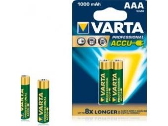 Varta 5703 Professional Accu AAA 1000mAh, NiMh(R03),mikrotužkové (bal=2ks)