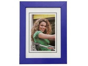 Hama 154443 Rámček drevený JESOLO, modrý, 13x18 cm