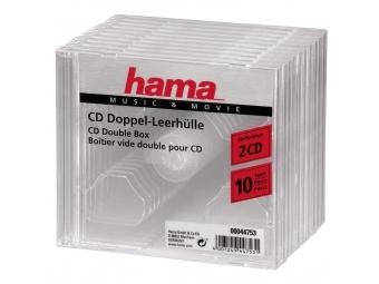 Hama 44753 CD obal Standard Double, 10 ks, priehľadný