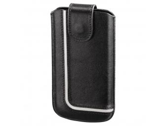 Hama 126915 puzdro na mobil Neon Black, veľkosť XXL, čierne/biele