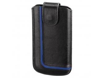 Hama 126914 puzdro na mobil Neon Black, veľkosť XXL, čierne/modré