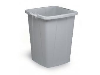 Durable Veľkokapacitný plastový kôš DURABIN,90l sivý