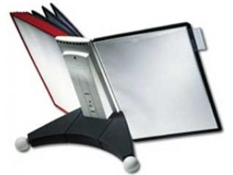 Durable Stojan na stôl SHERPA TABLE s 10 panelmi čierno/červený