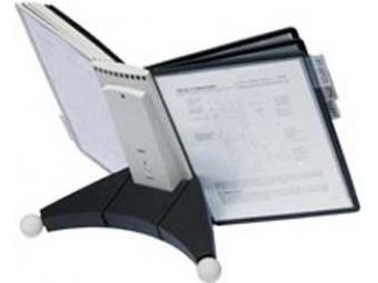 Durable Stojan na stôl SHERPA TABLE s 10 panelmi čierno/sivý