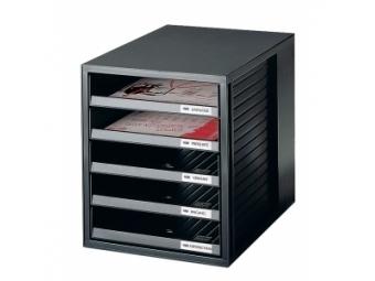 HAN Cabinet otvorené zásuvky, čierna/čierna