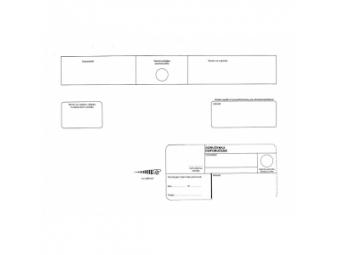 Obálka C4 s páskou, doručenka, biela (bal=250 ks)