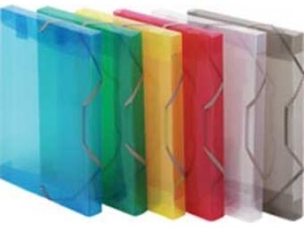 Plastový box s gumičkou priehľadný červený