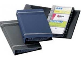 Durable Vizitkár Visifix A4 modrý (200vizitiek)