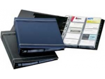 Durable Vizitkár Visifix A4 modrý (400vizitiek)