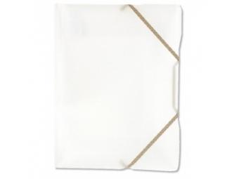 Plastový obal na dokumenty Opaline trojchl. s gumičkou číry