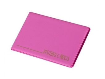 Panta Plast Vizitkár plastový ružový 120x70mm (24ks vizitiek)