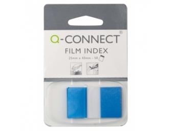 Q-Connect Záložky fóliové značkovacie 25x43 modré (1x50l)