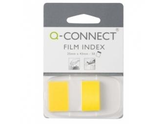 Q-Connect Záložky fóliové značkovacie 25x43 žlté (1x50l)