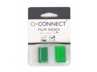 Q-Connect Záložky fóliové značkovacie 25x43 zelené (1x50l)