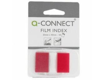 Q-Connect Záložky fóliové značkovacie 25x43 červené (1x50l)
