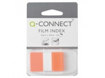 Q-Connect Záložky fóliové značkovacie 25x43 oranžová (1x50l)