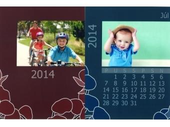 Samoobsluha - Tlač listov kalendár mesačný 13x 15x20 cm s okrajom (foto 13x18 cm) Kodak