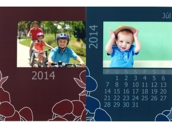 Samoobsluha - Kalendár ročný 15x20 cm s okrajom (foto 13x18 cm) Kodak