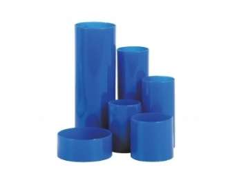 Stojan na perá Polytube modrý