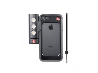 Manfrotto BUMPER BLACK + SMT LED LIGHT, bumper pre iphone 5/5S + LED svetlo