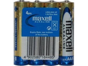 Maxell LR03 4S ALK 4x AAA (R03) SHRINK Batéria