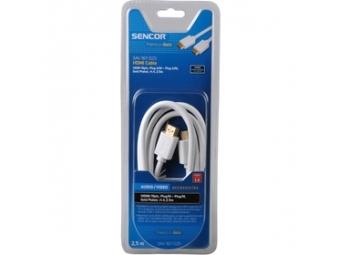 Sencor SAV 167-025W HDMI M-M 2,5M 1.4 PG