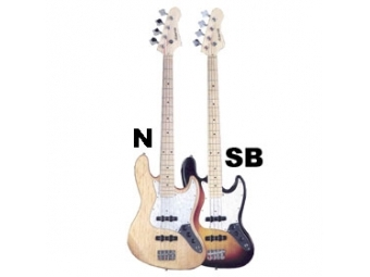 ABX Guitars PB-280 BK/WBR