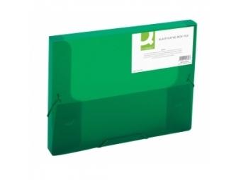 Q-Connect Box na dokumenty plastový zelený