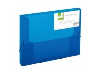 Q-Connect Box na dokumenty plastový modrý