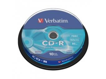 CD-R VERBATIM 700MB 52x cake box (bal=10ks) 43437