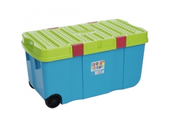 Wham 11883 box s vekom a kol. 100l modrý