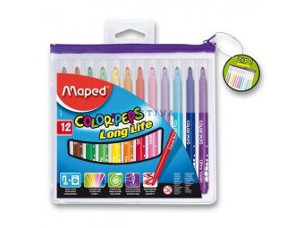 Maped COLOR´PEPS farebné fixky (12ks), púzdro na zips