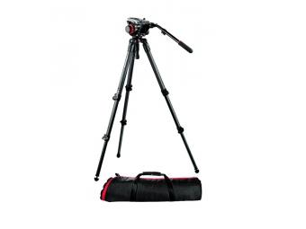 Manfrotto 504HD, 535K set statívu, video hlavy a tašky