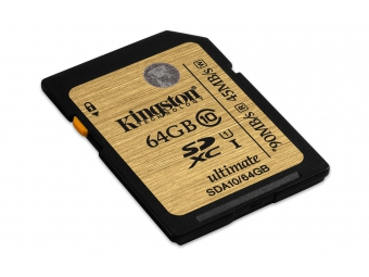 Kingston 64GB SDXC card Class 10 UHS-I Ultimate 90/45MB/s