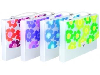 Comix A1362 Taška A4 plastová SUMMER FLOWER s rúčkou,mix