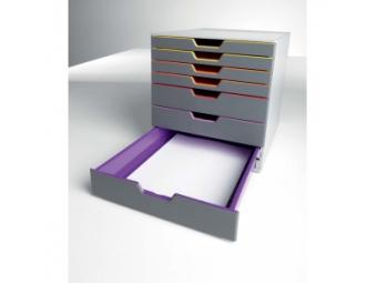 Durable Varicolor Zásuvkový box,7 zásuviek