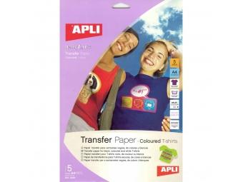 APLI Transférový papier A4 na textil, atr. tlač (bal=5hár)