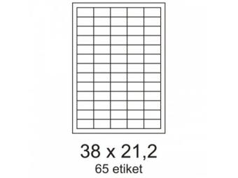 Etikety 38x21,2mm biele (bal=100ks)