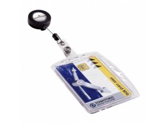 Durable Visačka na plast. kartu s výsuvným kotúčom 85x54mm (bal=10ks)
