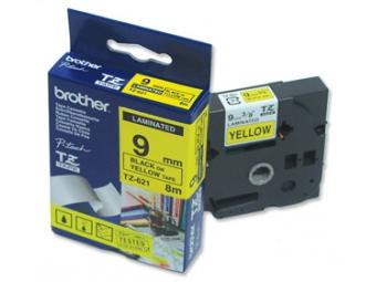 Brother TZE-621 Laminovaná páska 9mm žltá/čierna