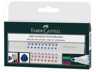 Faber-Castell GRIP popisovače na školské tabule v plast.puzdre (bal=4ks)