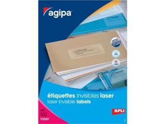 AGIPA Etikety laser priehľadné 70x37mm (bal=100hár)