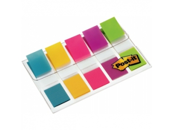 3M Post-It index úzky v zásobníku mix farieb, 12,5x43mm (5x20l)