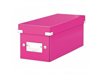 Esselte Archívna škatula na CD Click-Store so sklápacím vekom ružová