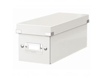 Esselte Archívna škatula na CD Click-Store so sklápacím vekom perleťová biela