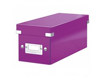 Esselte Archívna škatula na CD Click-Store so sklápacím vekom purpurová
