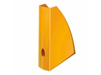 Leitz WOW Stojan na časopisy plast.,metalický oranžový
