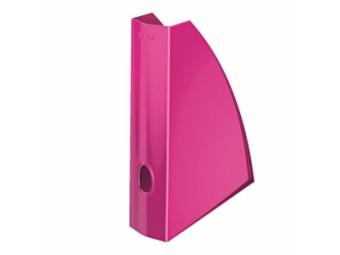 Leitz WOW Stojan na časopisy plast.,metalický ružový
