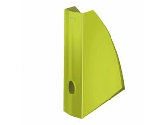 Leitz WOW Stojan na časopisy plast.,metalický zelený