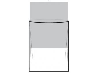 Vode odolné vrecko 50x70 na A-stojany, klaprámy